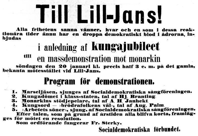 demonstration 1889-01-20 i stockholm